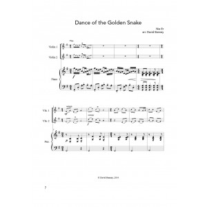 Oriental Suite - Two Violins and Piano (Score and Parts).  Folk songs arranged by David Banney DIGITAL DOWNLOAD (pdf)